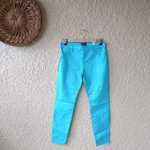 Children place teal sparkle skinny pants nwt